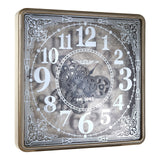 Antique Gold Framed Moving Parts Clock