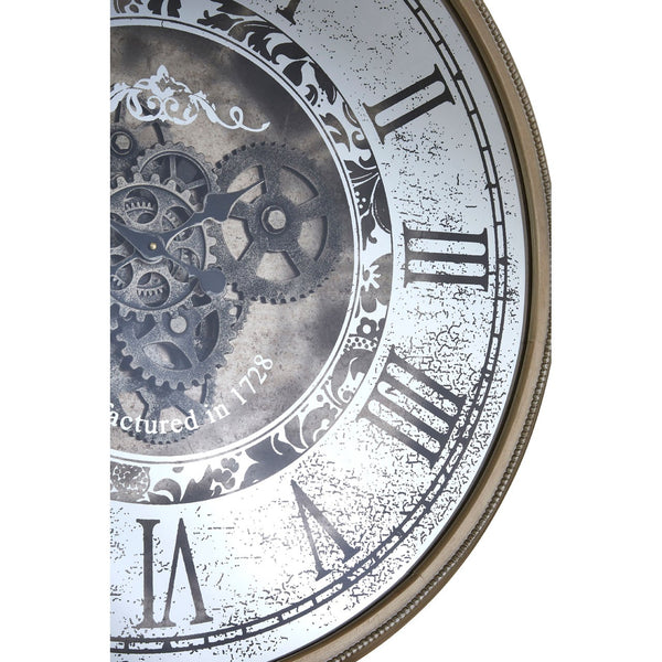 Antique Gold Framed Moving Parts Round Clock