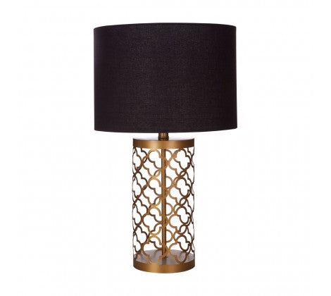 Trellis Gilt Table Lamp