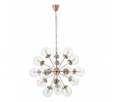 Bronze Clad Textured Crystal Chandelier