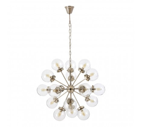 18 Clear Ball Ceiling Light