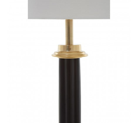 Tall Black/Gold Column Lamp