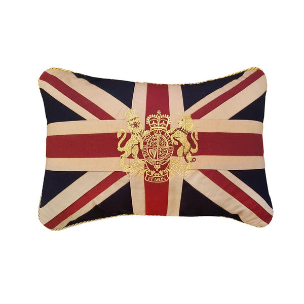Small Union Jack Cushion - Crest 30 x 46 cm