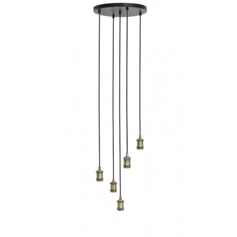 5 Light Antique Bronze Hanging Lamp
