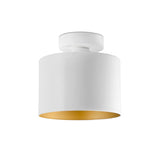White Metal Ceiling Light (Gold & Red)