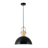 Metal & Wood Pendant Lamp