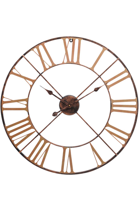 Black & Brushed Gold Metal Skeleton Clock 28'' & 41''