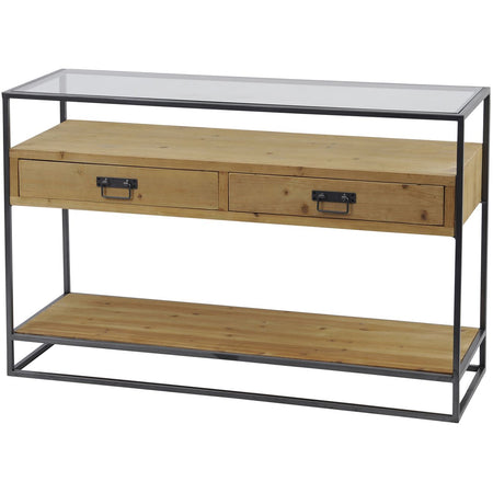 Drinks Trolley with Mirrored Shelves - SILVER