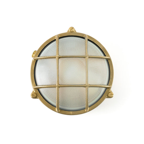 Round Brass wall lamp
