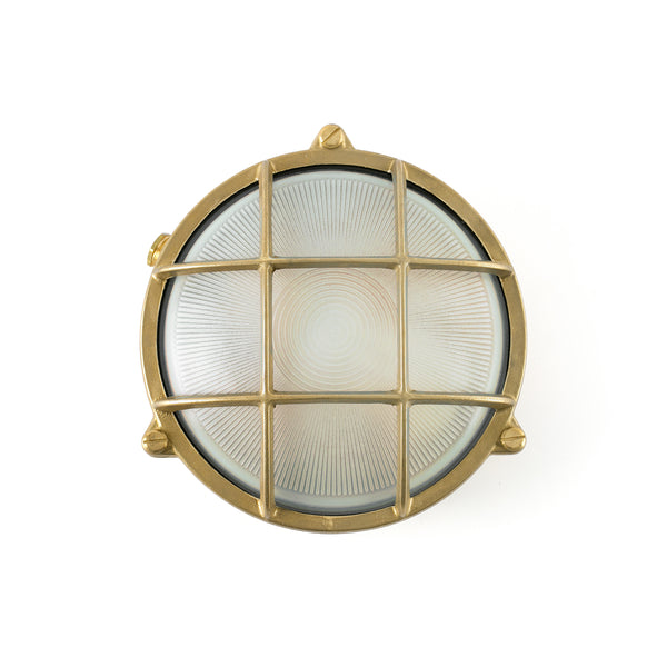 Round Solid Brass wall lamp