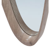 Natural Wood Shaped Mirror