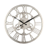 Nickel Cog Wall Clock 46 CM
