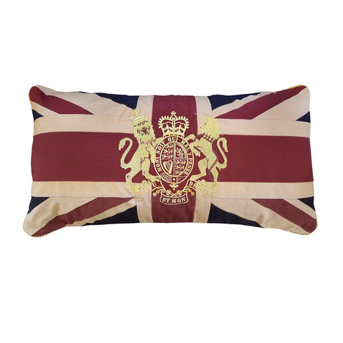 Large Union Jack Cushion - Crest 76 x 38 cm