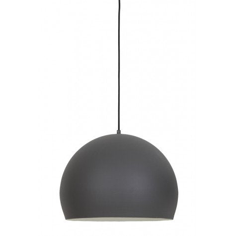 Inner White & Matted Grey Round Hangin Lamp