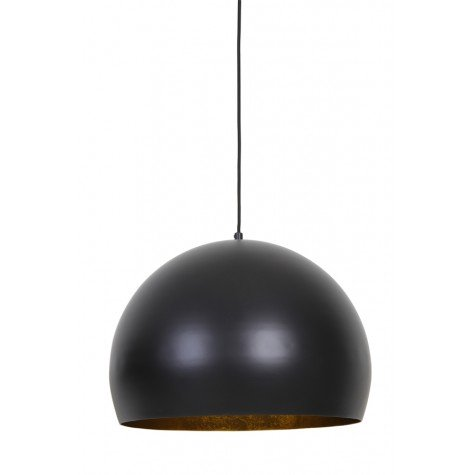 Inner Gold & Matted Black Round Hanging Lamp