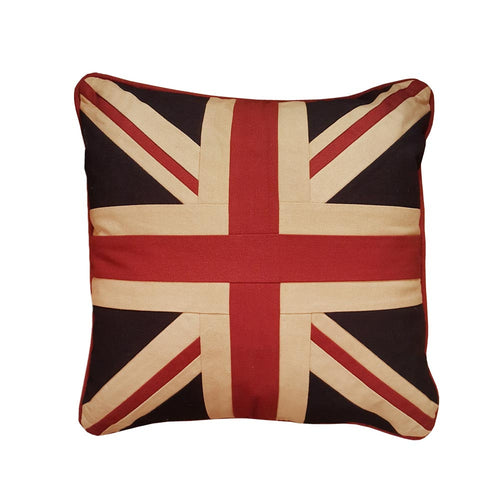 Large Square Union Jack Cushion - Plain 46 x 46 cm