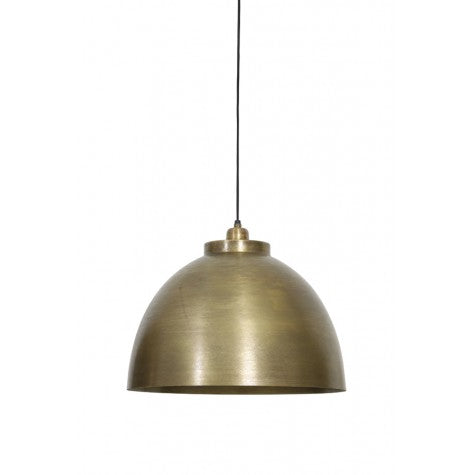 Raw Old Bronze Hanging Lamp