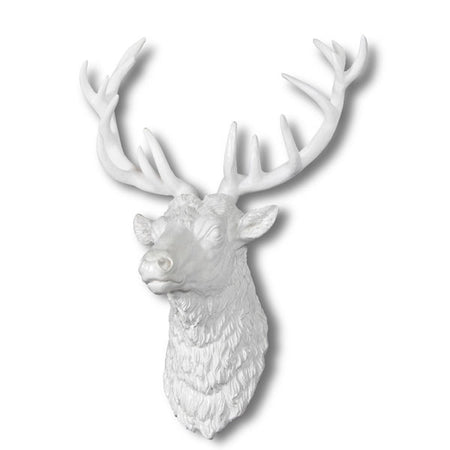 Large Silver Deer Head Wall Hanging