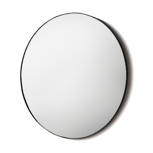 Black Industrial Circular Mirror 80 cm