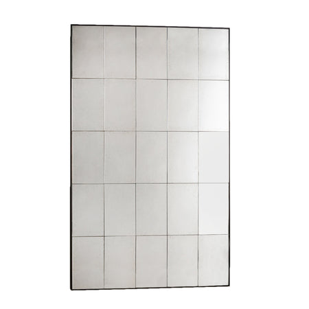 White Metal Window Mirror  140 x 90 cm