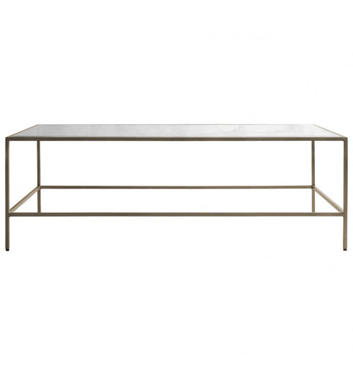 Brushed Brass Slender Coffee Table 120 x 65 cm
