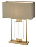 Brushed Brass & Crystal Lamp