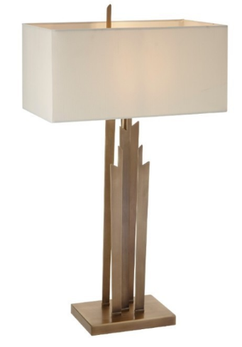 Tall Brushed Brass Feature Lamp