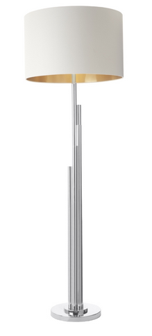 Brushed Nickel Contemporary Statement Floor Lamp