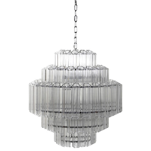 Large Crystal Prism Chandelier  H: 65 cm D: 65 cm Height Including Chain 175 cm