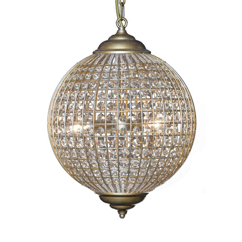 Medium Gold Globe Chandelier