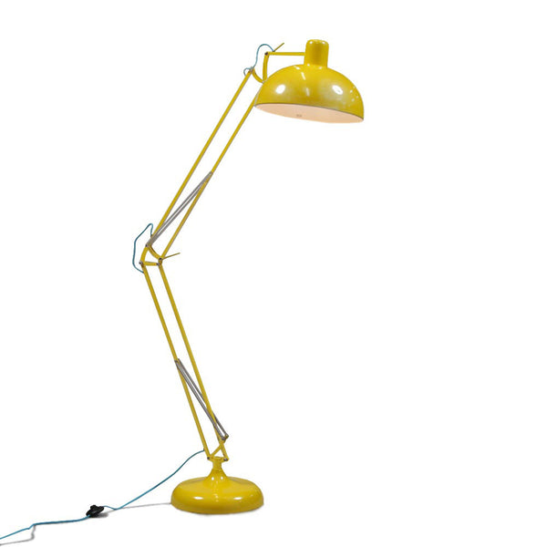 Extra Large Angled Floor Lamp - Yellow