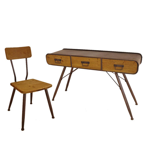Retro Industrial Desk & Chair