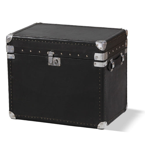 Black Leather & Ali Travel Trunk