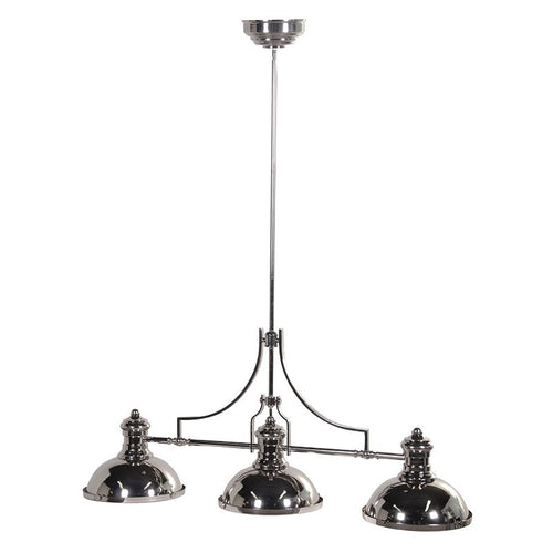 Silver Finish 3 Lamp Ceiling Pendant