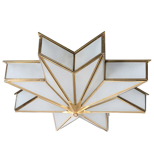 Brass Star Flush Ceiling Light