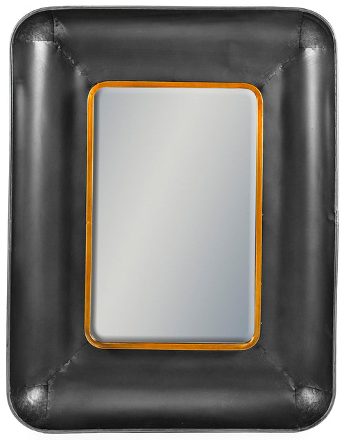 Black and Bronze Rectangular Wall Mirror