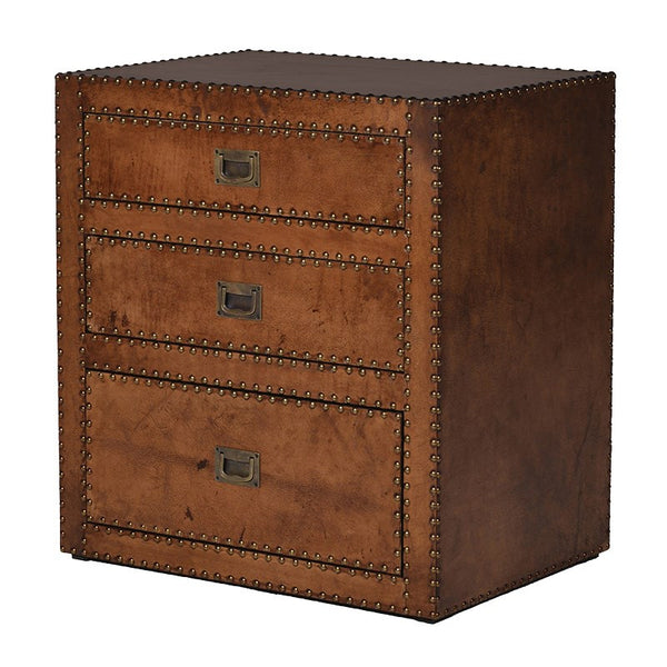 Leather 3 Drawer Chest/Bedside Table