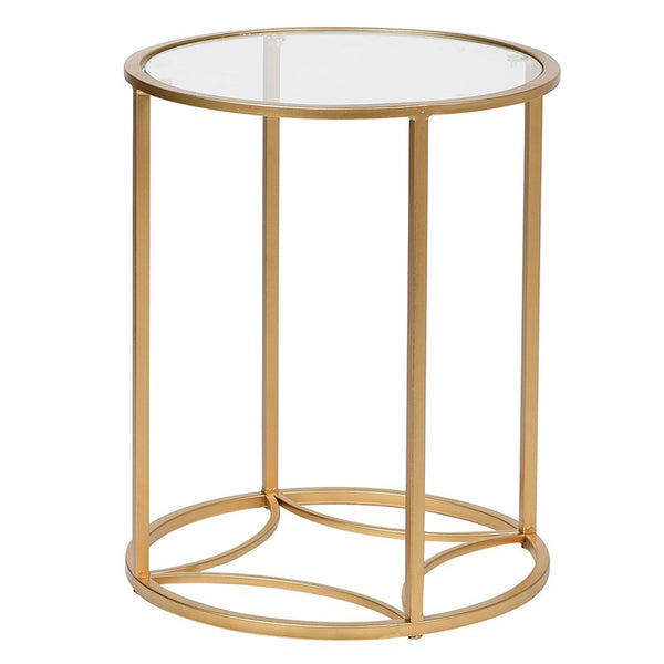 Gilt / Glass Side Table