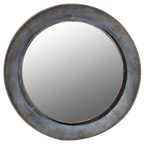 Distressed Round Wall Mirror