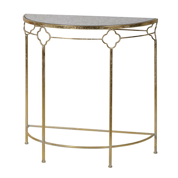 Half Moon Brass Hall Table