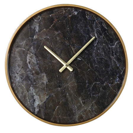 Map Black Wall Clock