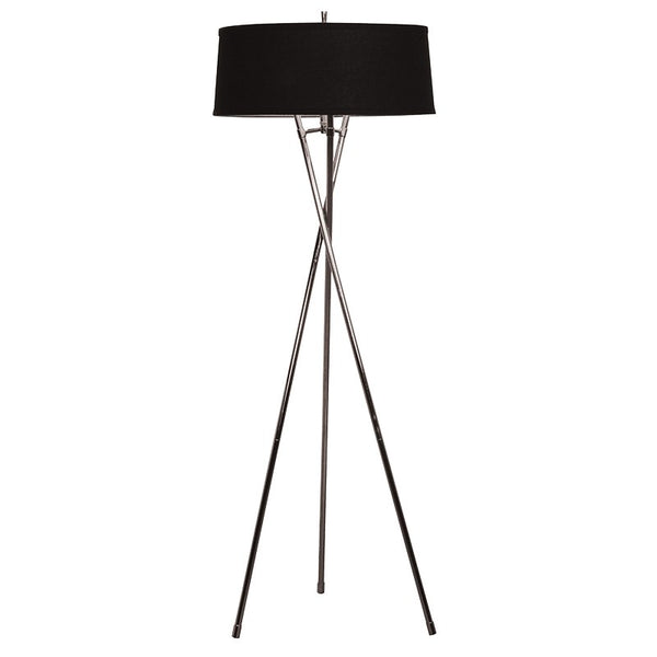 Tall Tripod Lamp with Black Shade