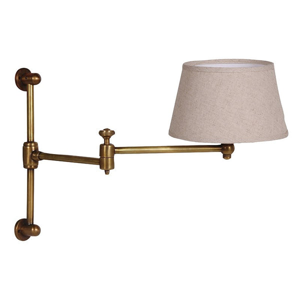 Bronze Adjustable Arm Wall Light