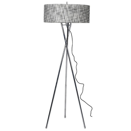 Chrome Rings Table Lamp with Black Shade