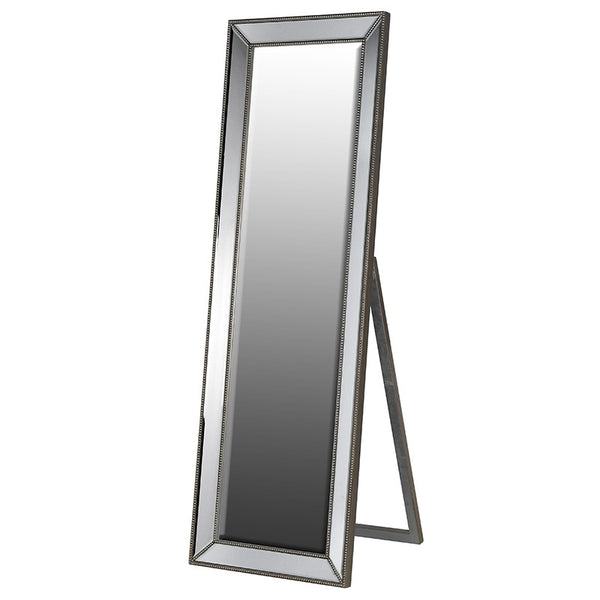 Metallic Grey Dressing Mirror
