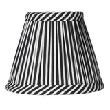 Striped Black & White Pleated Shade
