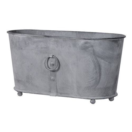 Oval Wrought Iron Planter