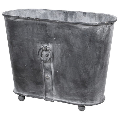 Oval Iron Planter