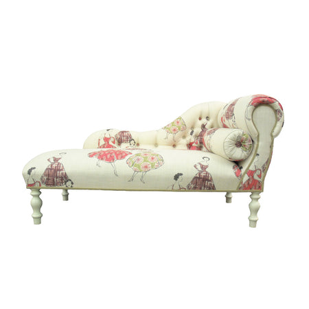 Red Linen Two Seater Sofa