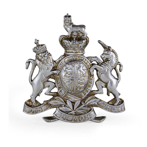 Coat of Arms Silver Wall Plaque/Large